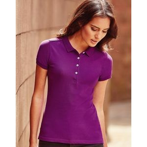 R566F Russell Polo Stretch Women Polo donnastretch slim fit tessuto piquet di alta qualità Thumbnail